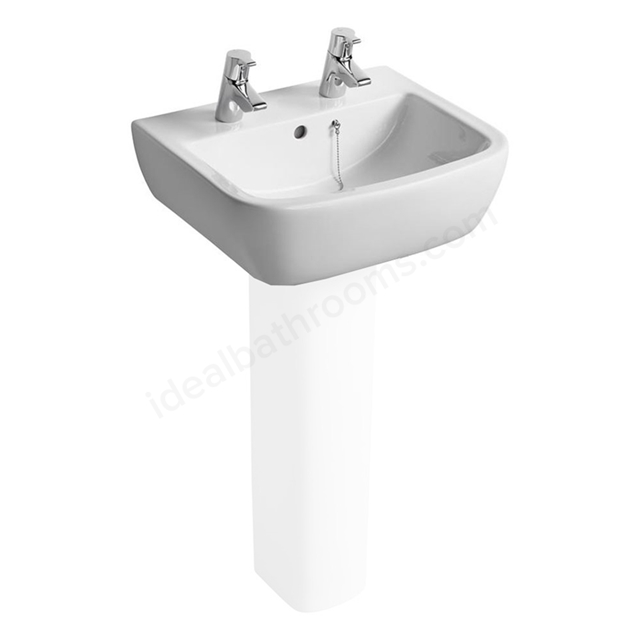 Ideal Standard TEMPO Washbasin; 2 Tap Hole; 500mm; White