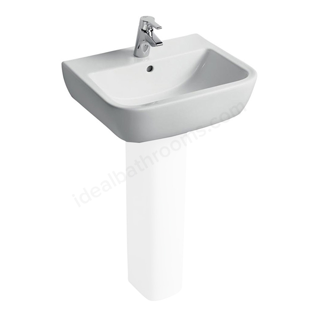 Ideal Standard TEMPO Washbasin; 1 Tap Hole; 550mm; White