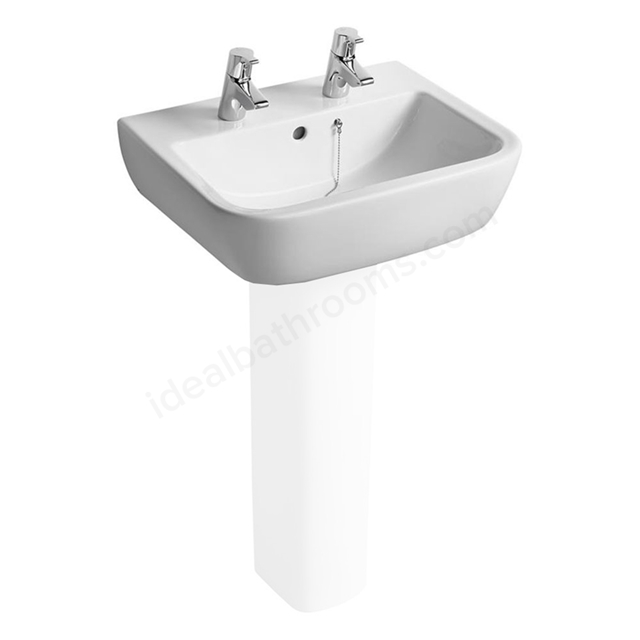 Ideal Standard TEMPO Washbasin; 2 Tap Hole; 550mm; White