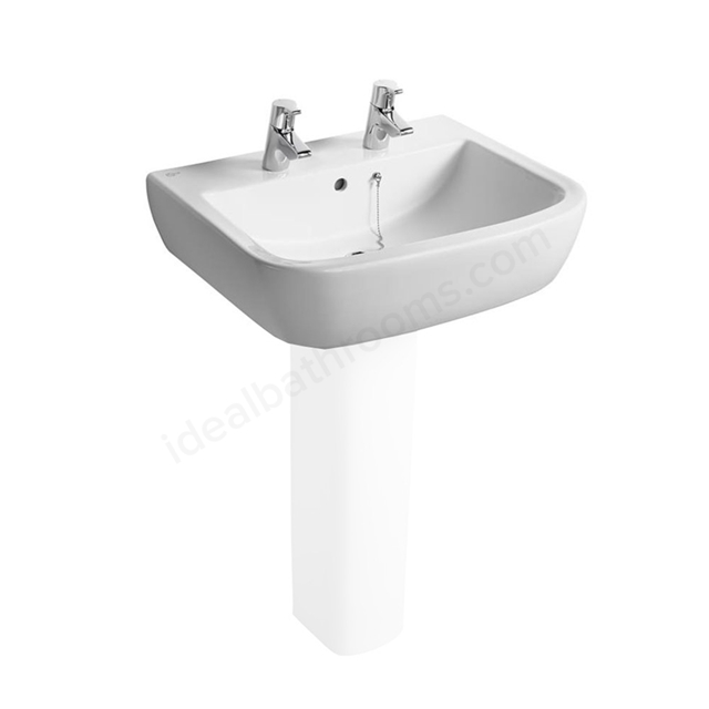 Ideal Standard TEMPO Washbasin; 2 Tap Hole; 600mm; White