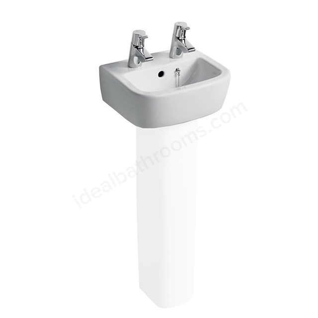 Ideal Standard TEMPO Handrinse Basin; 2 Tap Hole; 350mm; White