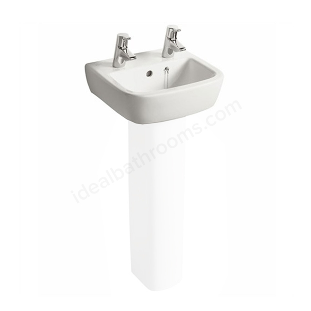 Ideal Standard TEMPO Handrinse Basin; 2 Tap Hole; 400mm; White