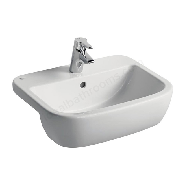 Ideal Standard TEMPO Semi Countertop Basin; 1 Tap Hole; 550mm; White