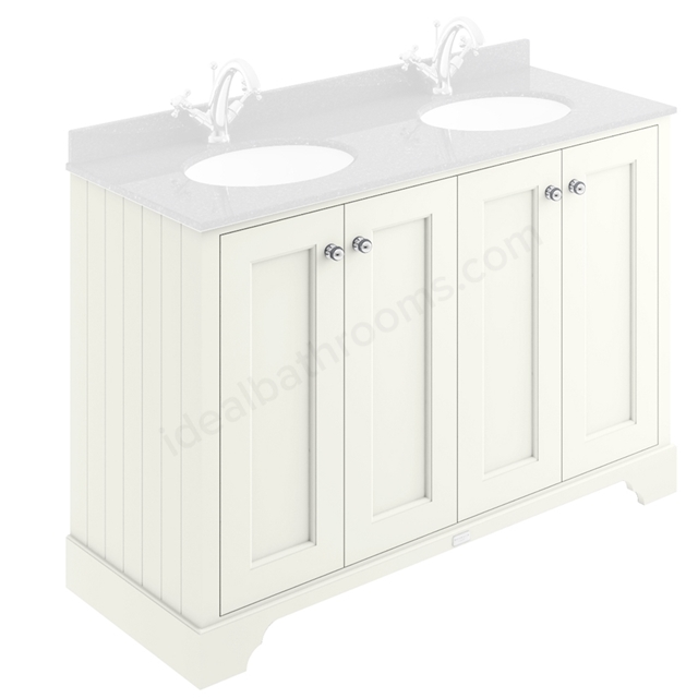 Bayswater Pointing White 1200mm 4 Door Basin Cabinet