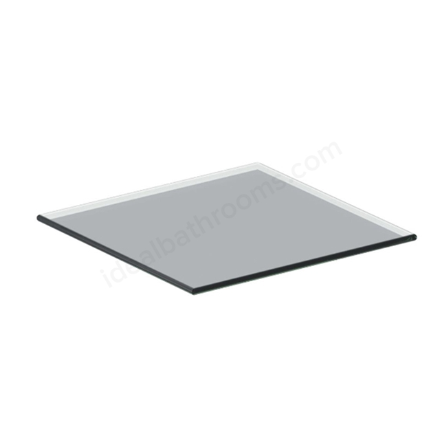 Ideal Standard 200mm Glass Top Add On Unit - Gloss Grey