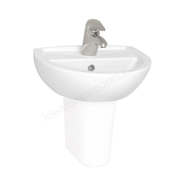 Vitra LAYTON Cloakroom Basin; 1 Tap Hole; 450mm Wide; White