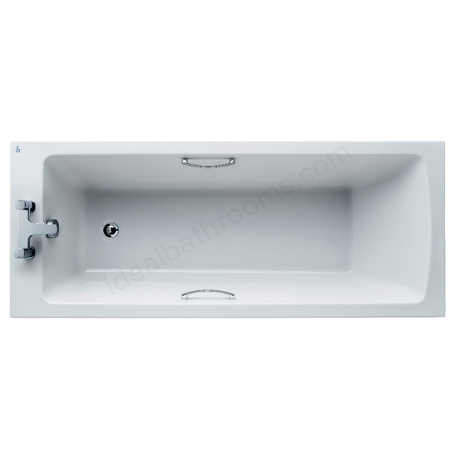 Ideal Standard Tempo White Arc 1700x700mm Rectangular Water Saving Bath; With Grips