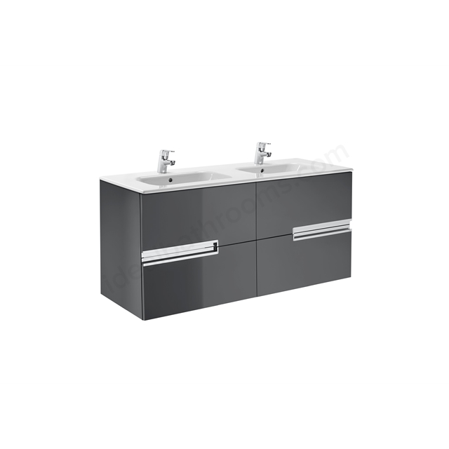 Roca Victoria Basic Base Unit 800 x 460 Anthracite Grey; 3 Drawers