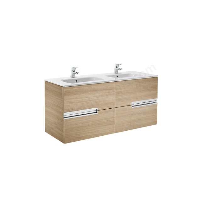 Roca VICTORIA N Base Unit; Left Handed; 600mm Wide; 2D Oak