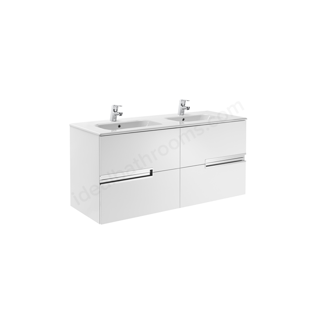 Roca Victoria Basic Base Unit 800 x 460 Gloss White; 3 Drawers
