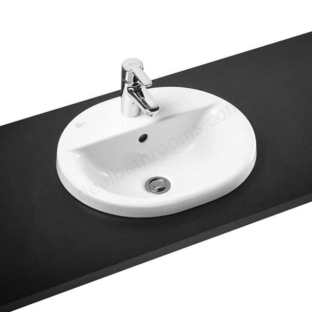 Ideal Standard Concept 480mm Semi Recessed Basin 1 Tap Hole