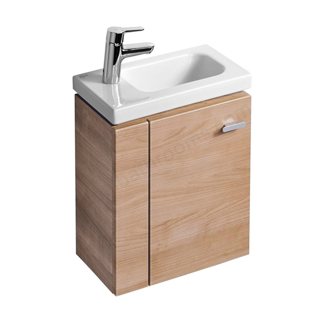Ideal Standard Concept Space 450mm Basin Unit Left Hand - American Oak