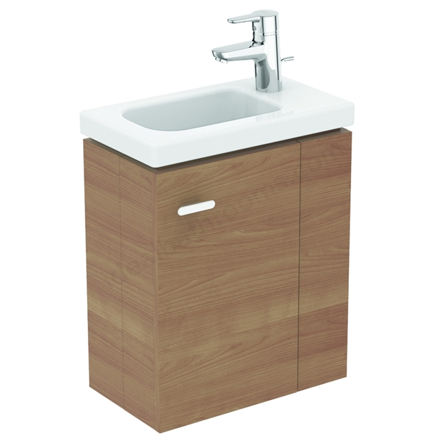 Ideal Standard Concept Space 450mm Basin Unit Right Hand - American Oak