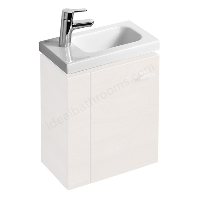 Ideal Standard CONCEPT SPACE Furniture Basin with Left Hand Platform; 1 Tap Hole; 450mm; White