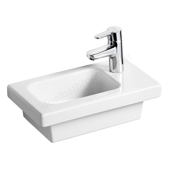 Ideal Standard CONCEPT SPACE Furniture Basin with Right Hand Platform; 1 Tap Hole; 450mm; White