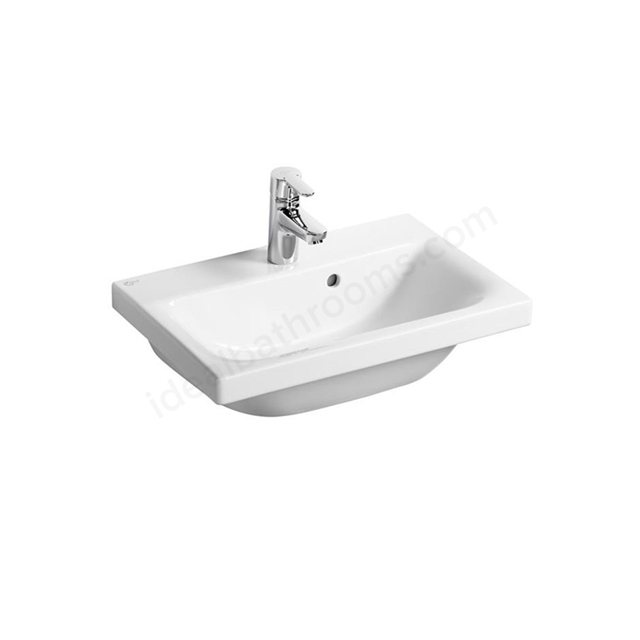 Ideal Standard CONCEPT SPACE Furniture Or Pedestal  Basin; 1 Tap Hole; 500mm; White
