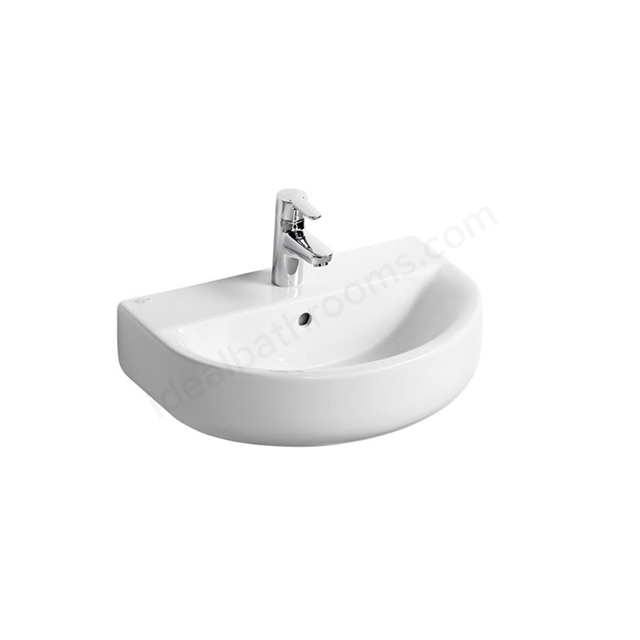Ideal Standard CONCEPT SPACE Arc  Basin; 1 Tap Hole; 550mm; White
