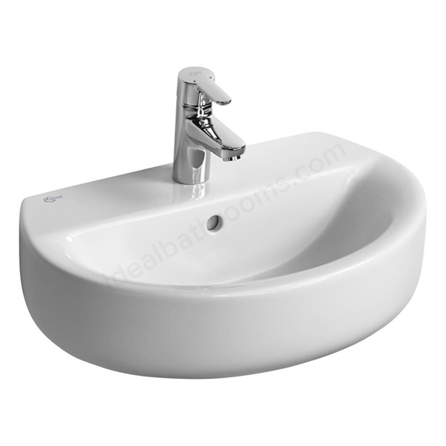 Ideal Standard CONCEPT SPACE Sphere  Basin; 1 Tap Hole; 550mm; White