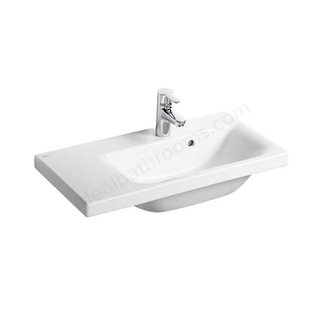 Ideal Standard CONCEPT SPACE Washbasin; Left Handed 1 Tap Hole; 600mm; White