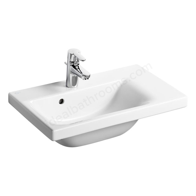 Ideal Standard CONCEPT SPACE Washbasin; Right Handed 1 Tap Hole; 600mm; White