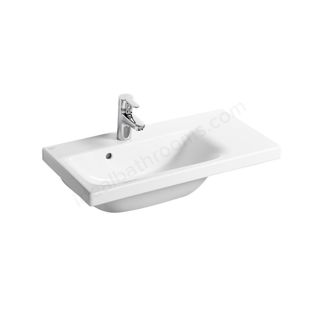 Ideal Standard CONCEPT SPACE Washbasin; Right Handed 1 Tap Hole; 700mm; White
