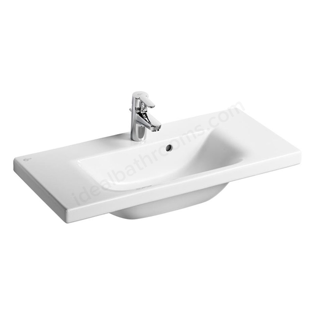 Ideal Standard CONCEPT SPACE Washbasin; 1 Tap Hole; 800mm; White
