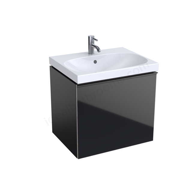 Geberit Acanto 600mm Washbasin Unit Black