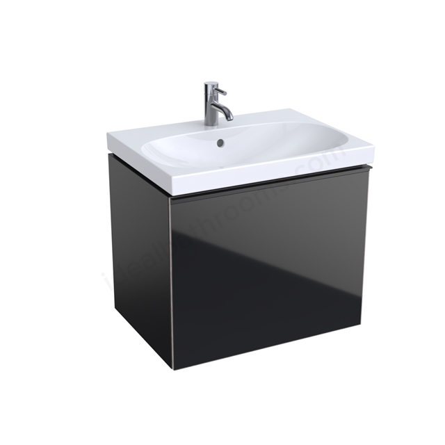 Geberit Acanto 650mm Washbasin Unit Black