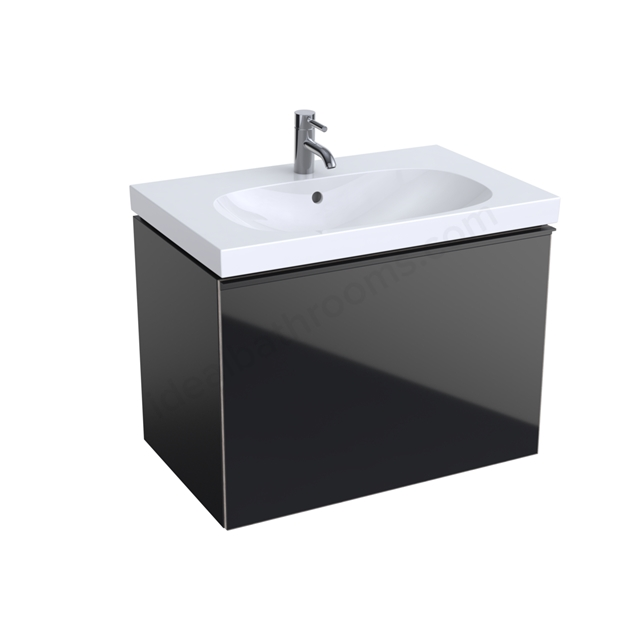 Geberit Acanto 750mm Washbasin Unit Black