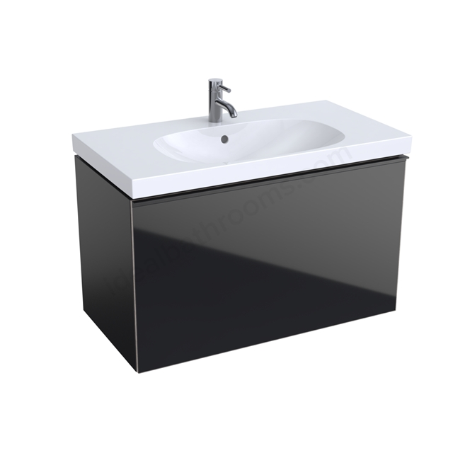 Geberit Acanto 900mm Washbasin Unit Black