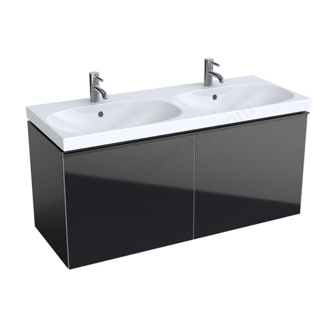 Geberit Acanto 1200mm Washbasin Unit Black