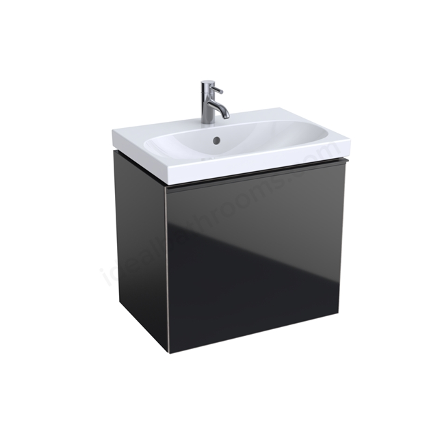 Geberit Acanto Compact 600mm Basin Unit Black