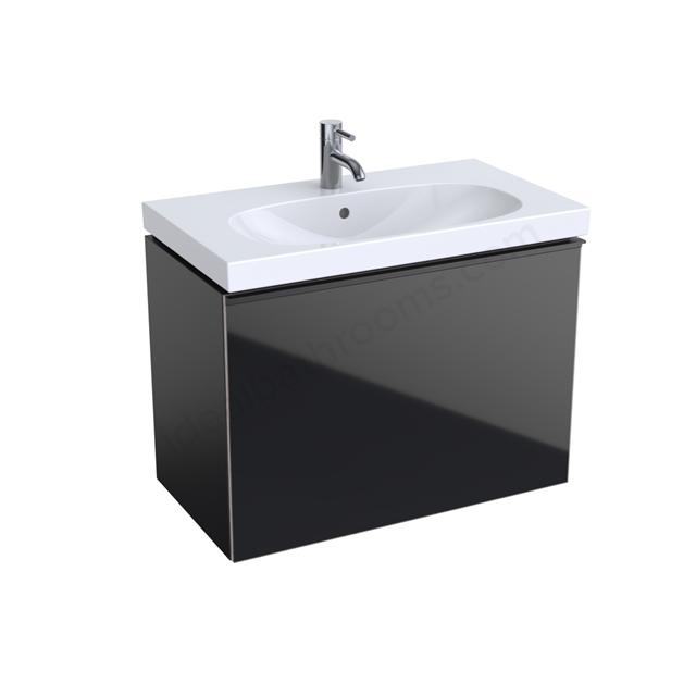Geberit Acanto Compact 750mm Basin Unit Black
