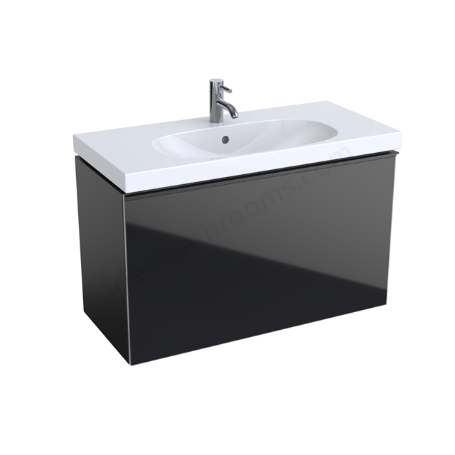 Geberit Acanto Compact 900mm Basin Unit Black