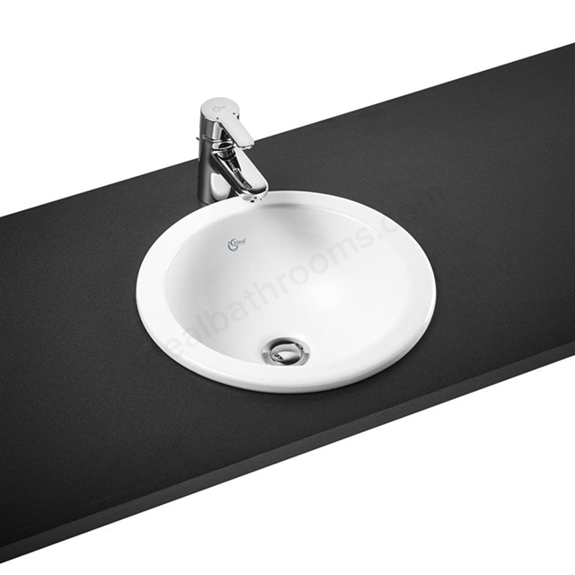 Ideal Standard CONCEPT SPHERE Countertop Basin; No Tap Deck; 380mm; White