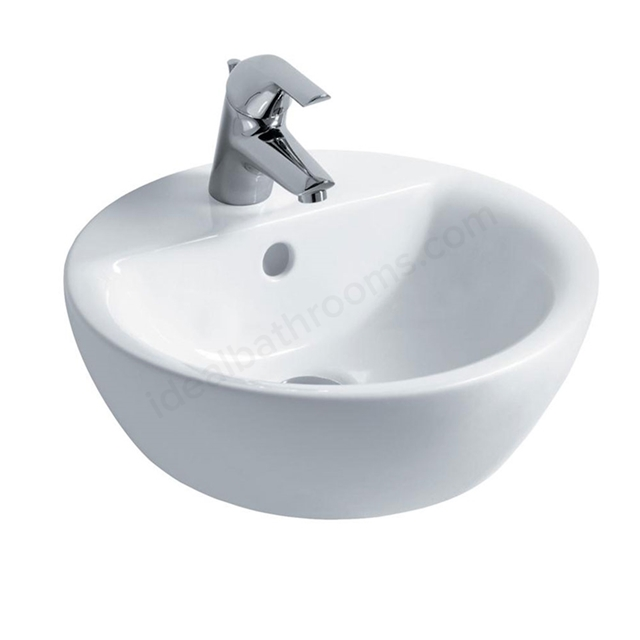 Ideal Standard CONCEPT SPHERE Vessel Basin; 1 Tap Hole; 430mm; White