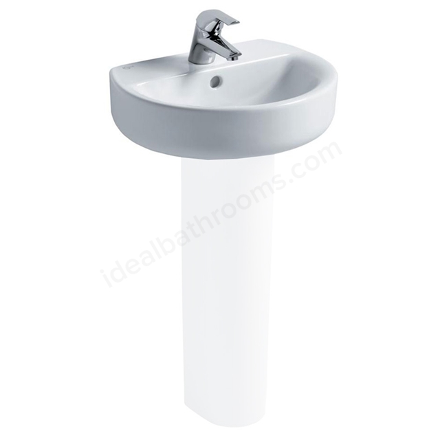 Ideal Standard CONCEPT SPHERE Handrinse Basin; 1 Tap Hole; 450mm; White