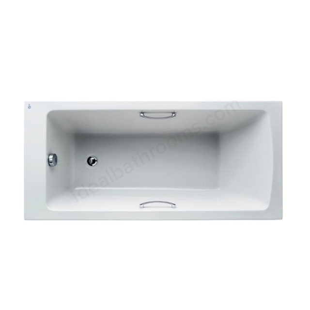 Ideal Standard Tempo White Arc 1500x700mm Rectangular Bath; With Grips