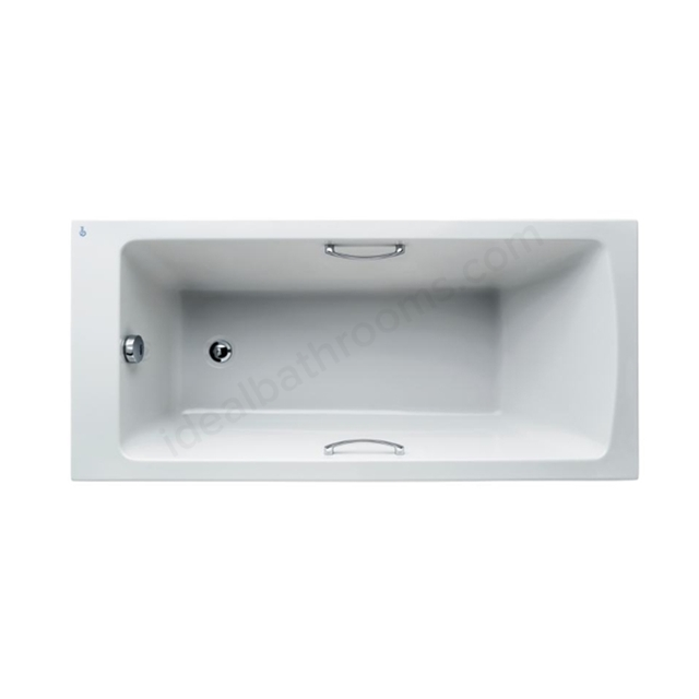 Ideal Standard Tempo White Arc 1500x700mm Idealform Plus+ Rectangular Bath; with Grips