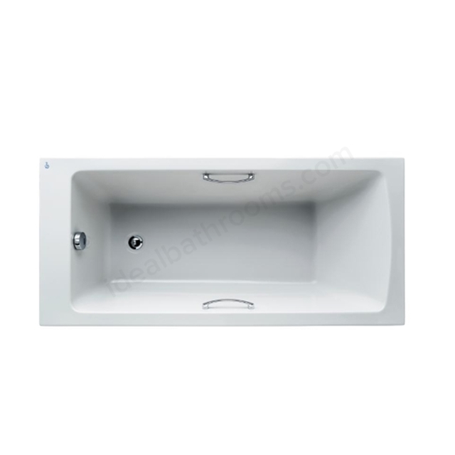 Ideal Standard Tempo White Arc 1500x700mm Idealform Plus+ Rectangular Bath; with Grips; No Legs