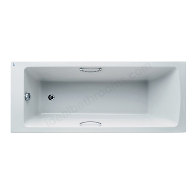 Ideal Standard Tempo White Arc 1700x700mm Rectangular Bath; With Grips