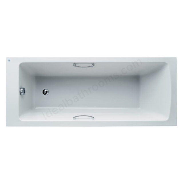 Ideal Standard Tempo White Arc 1700x700mm Idealform Plus+ Rectangular Bath; with Grips; No Legs