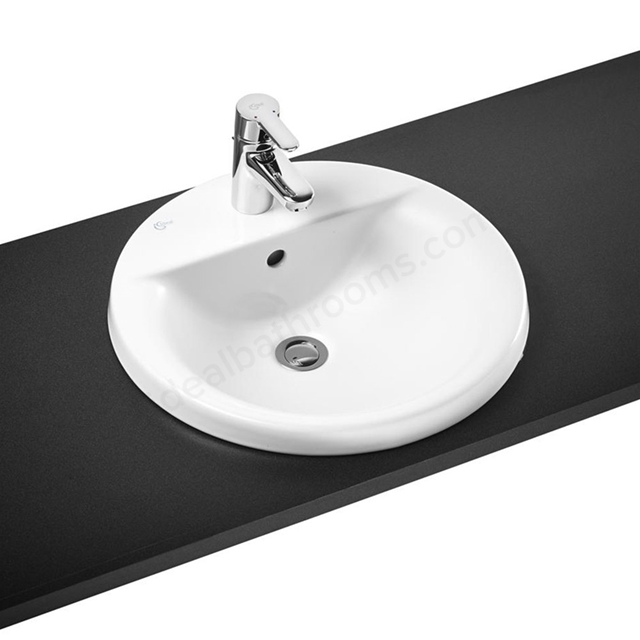 Ideal Standard CONCEPT SPHERE Countertop Basin; 1 Tap Hole; 480mm; White