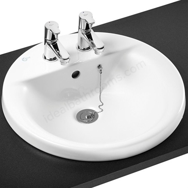 Ideal Standard CONCEPT SPHERE Countertop Basin; 2 Tap Hole; 480mm; White