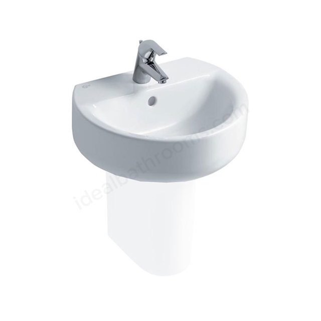 Ideal Standard CONCEPT SPHERE Washbasin; 1 Tap Hole; 500mm; White
