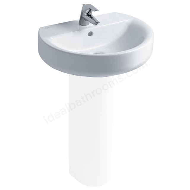 Ideal Standard CONCEPT SPHERE Washbasin; 1 Tap Hole; 550mm; White