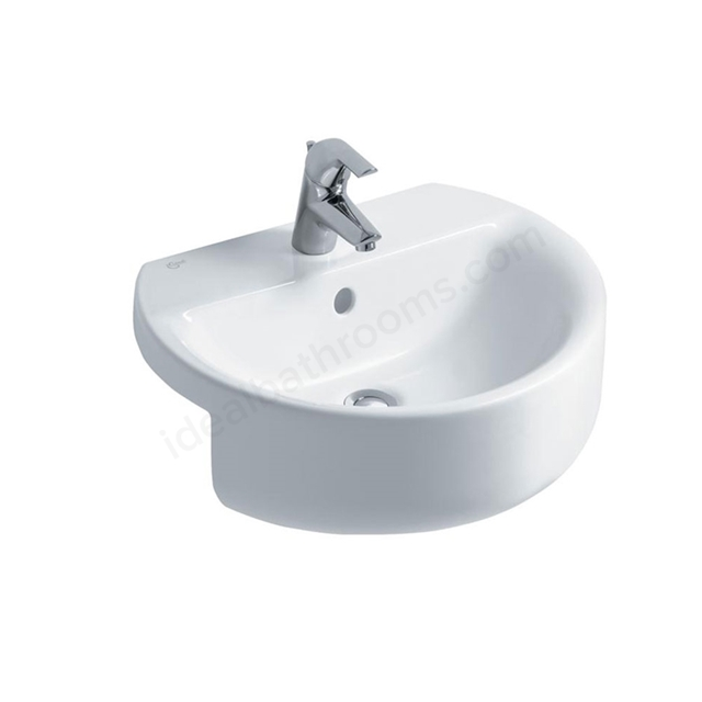 Ideal Standard CONCEPT SPHERE Semi Countertop Basin; 1 Tap Hole; 550mm; White