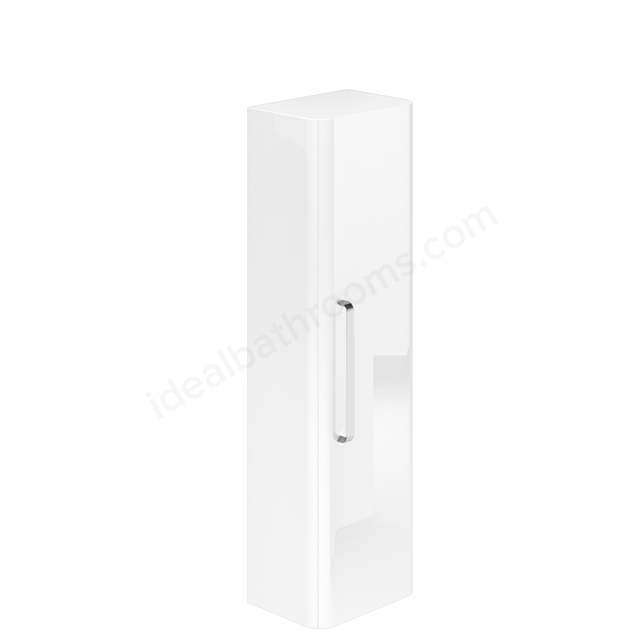 Essential VERMONT Wall Hung Column Unit; 1 Door; 350mm Wide; White