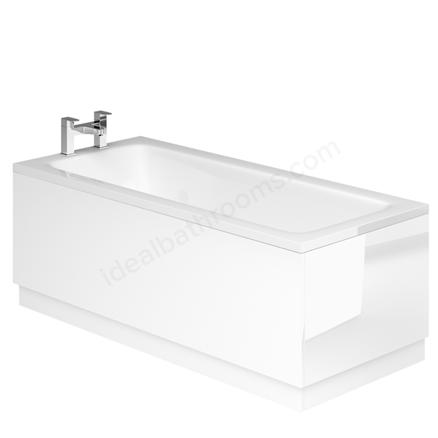 Essential VERMONT MDF Front Bath Panel; 1800mm Wide; White