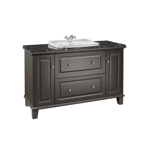 Roca Carmen Vanity 1300mm Base Unit  - Anthracite Satin